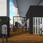 柏の葉キャンパス高架下に屋台をモチーフにした商業施設