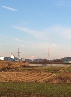 富士見橋から富士山は見えまぁす。
