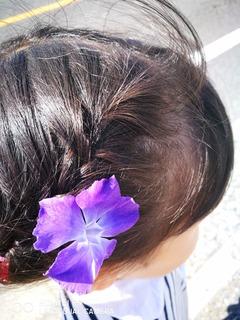 道端を 飾る花から 花飾り