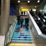 TX秋葉原駅で階段利用推しがはじまる